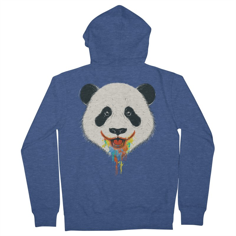 PANDA Men's French Terry Zip-Up Hoody by netralica's Artist Shop