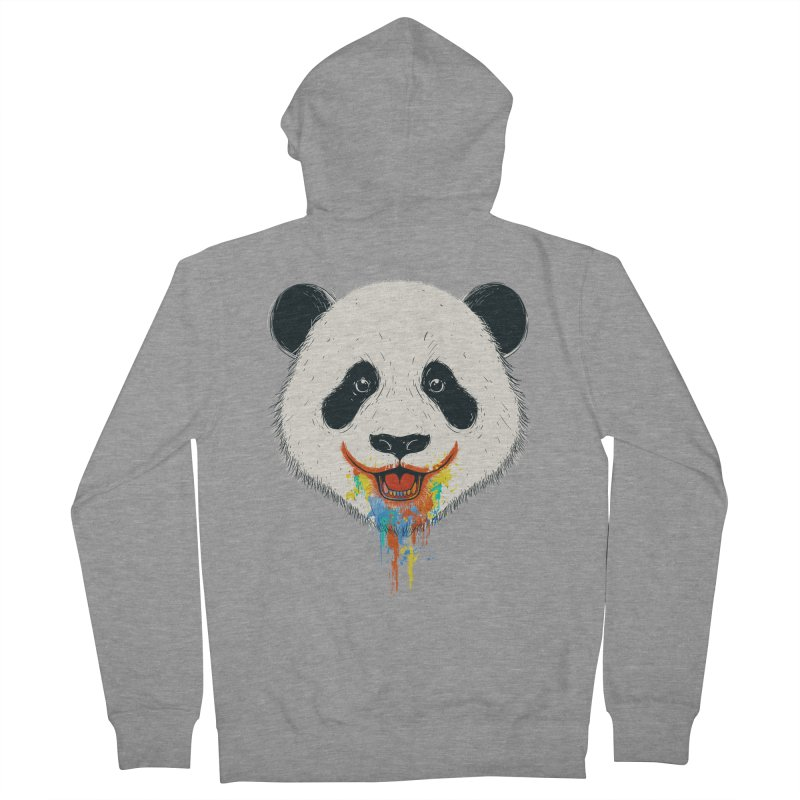 PANDA Men's Zip-Up Hoody by netralica's Artist Shop