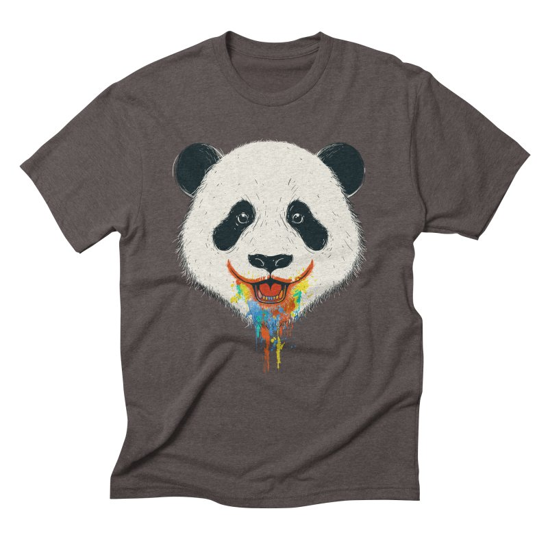 PANDA Men's Triblend T-shirt by netralica's Artist Shop
