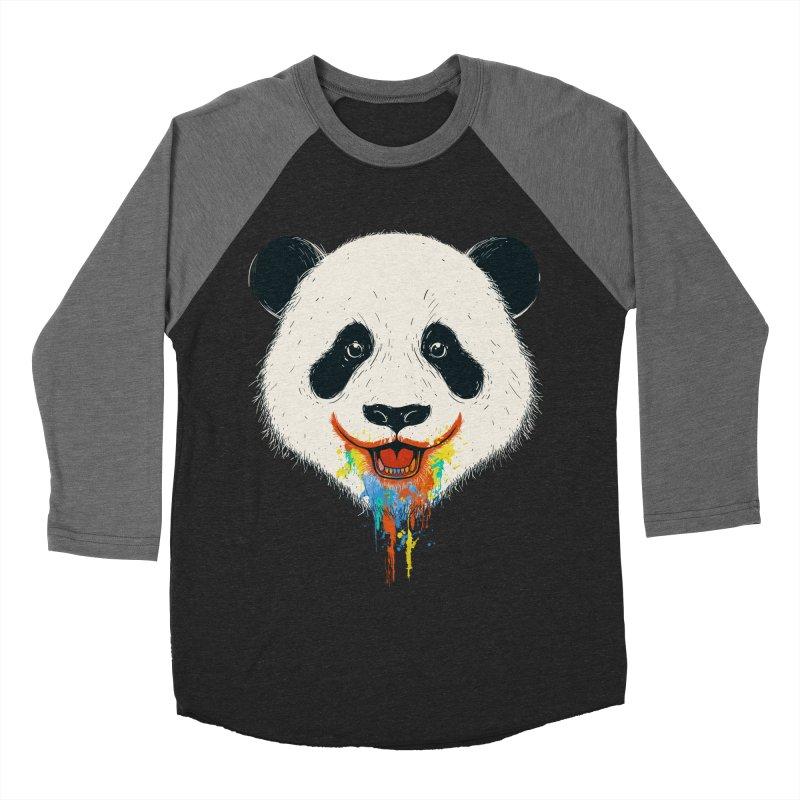 PANDA Women's Baseball Triblend Longsleeve T-Shirt by netralica's Artist Shop