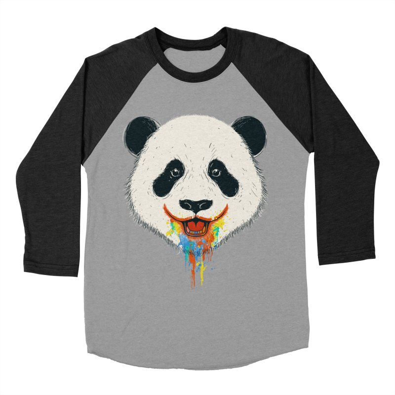 PANDA Men's Baseball Triblend T-Shirt by netralica's Artist Shop