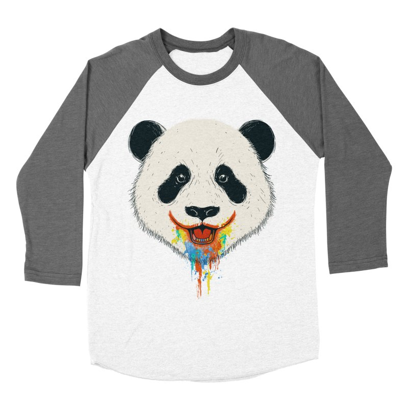 PANDA Men's Baseball Triblend Longsleeve T-Shirt by netralica's Artist Shop