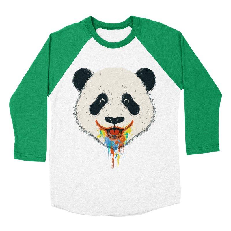 PANDA Men's Baseball Triblend T-Shirt by netralica's Artist Shop