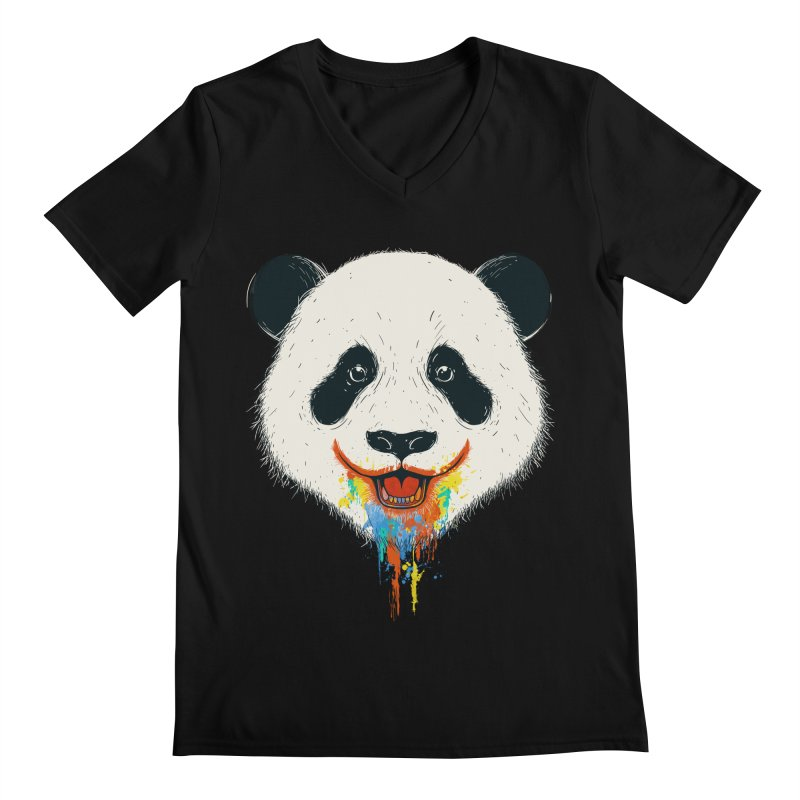 PANDA Men's Regular V-Neck by netralica's Artist Shop