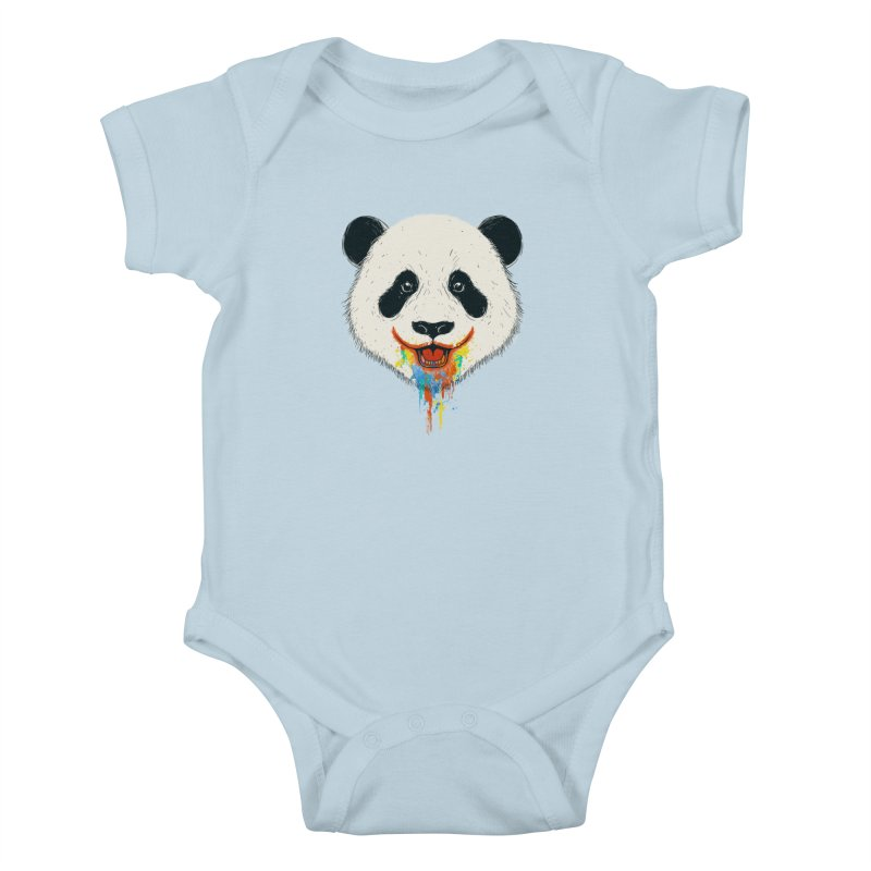 PANDA Kids Baby Bodysuit by netralica's Artist Shop