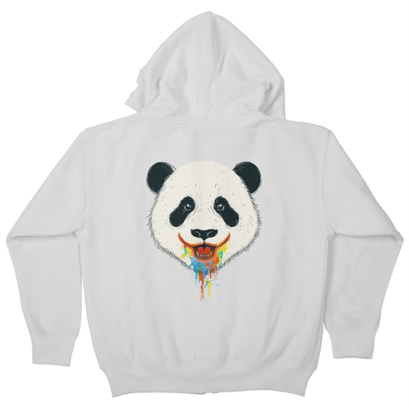 PANDA Kids Zip-Up Hoody by netralica's Artist Shop