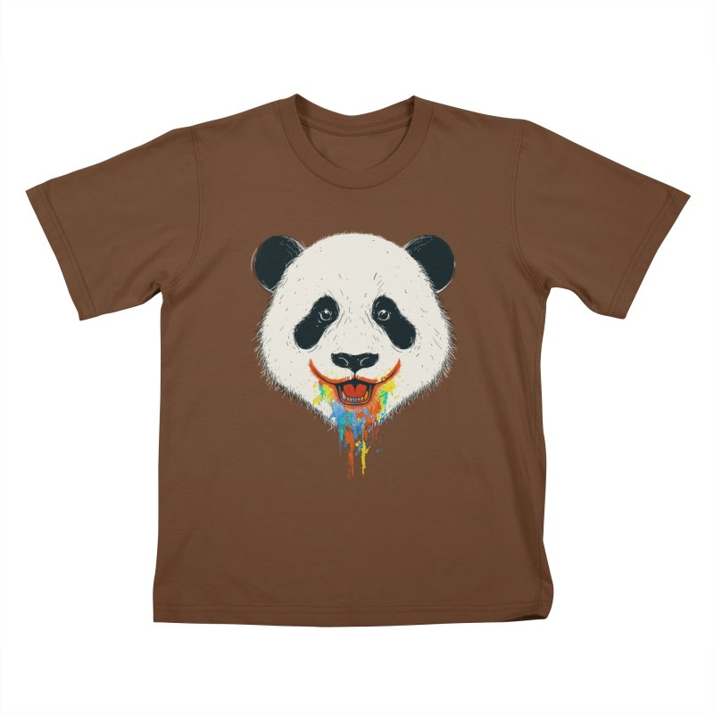 PANDA Kids T-Shirt by netralica's Artist Shop