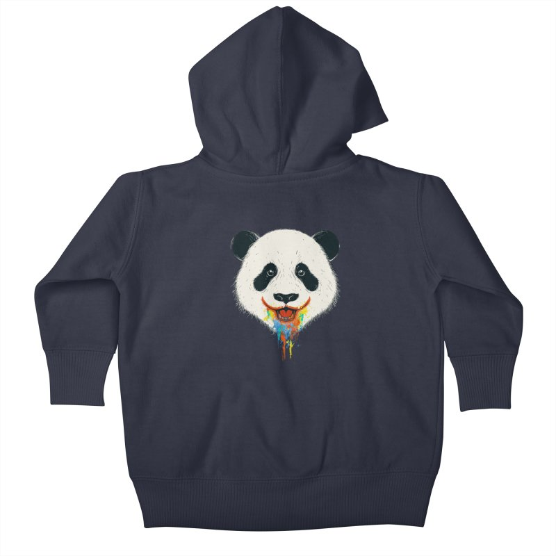 PANDA Kids Baby Zip-Up Hoody by netralica's Artist Shop