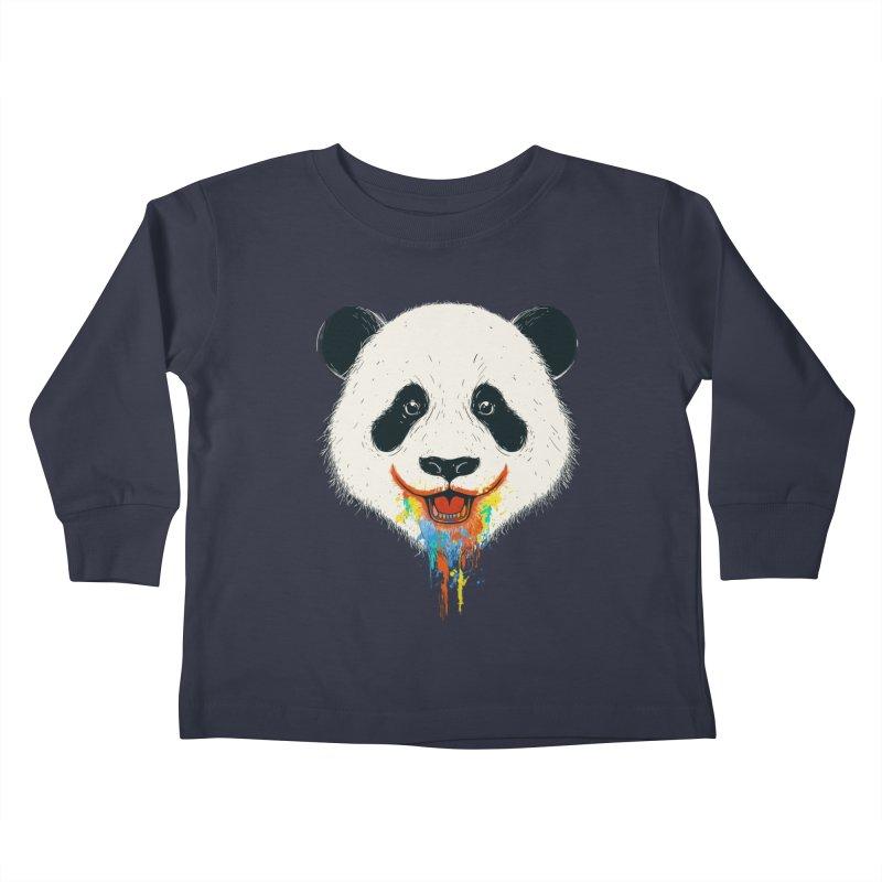 PANDA Kids Toddler Longsleeve T-Shirt by netralica