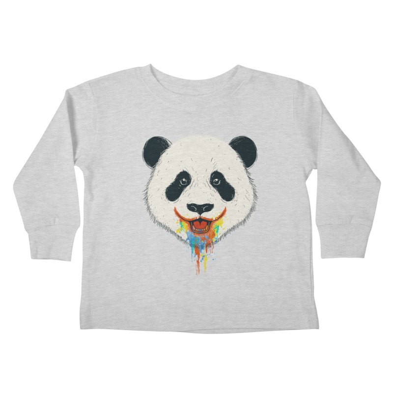 PANDA Kids Toddler Longsleeve T-Shirt by netralica's Artist Shop