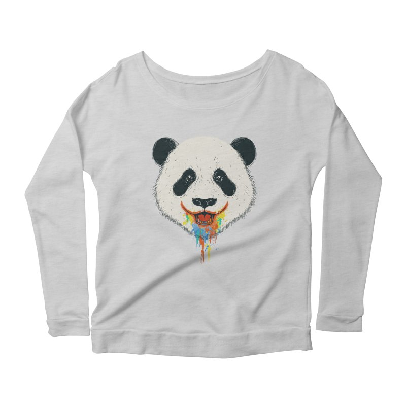 PANDA Women's Scoop Neck Longsleeve T-Shirt by netralica's Artist Shop