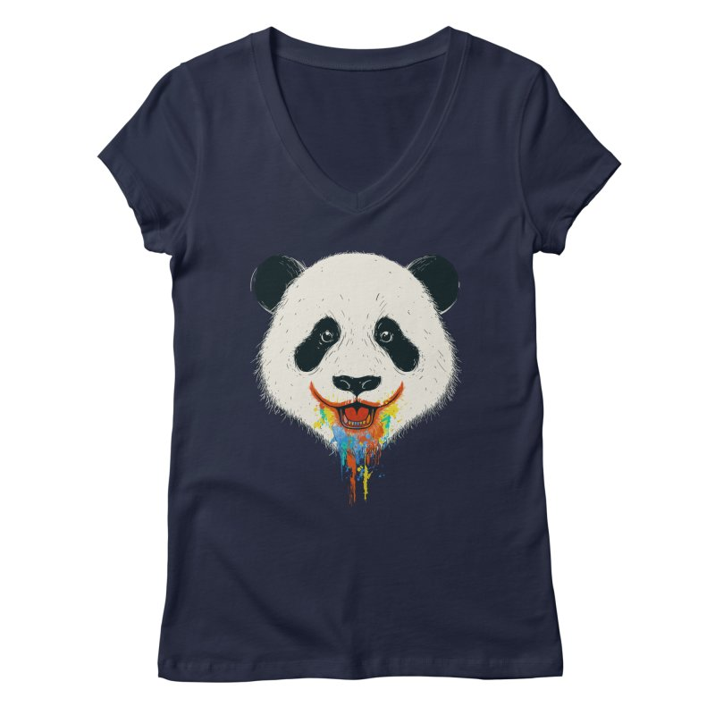 PANDA Women's V-Neck by netralica's Artist Shop
