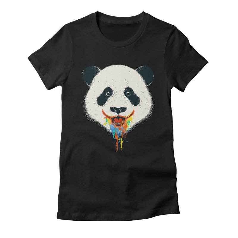 PANDA Women's Fitted T-Shirt by netralica's Artist Shop