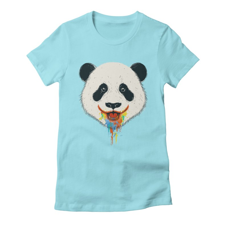 PANDA Women's Fitted T-Shirt by netralica