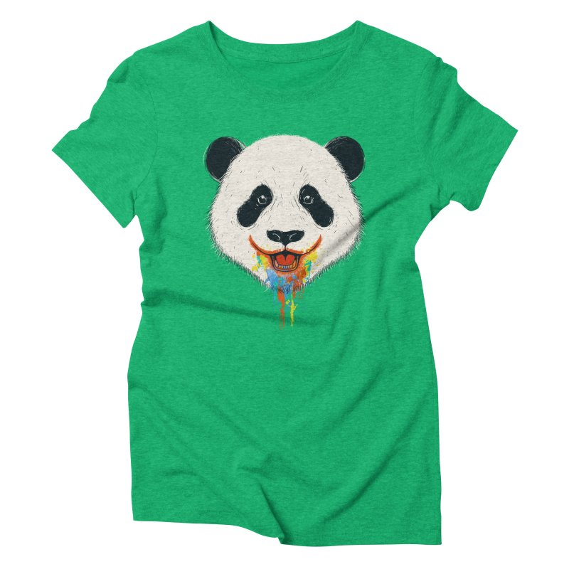 PANDA Women's Triblend T-shirt by netralica's Artist Shop