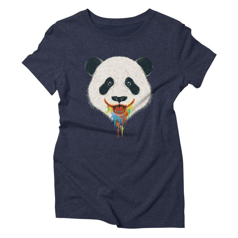 PANDA Women's Triblend T-shirt by netralica's Artist Shop
