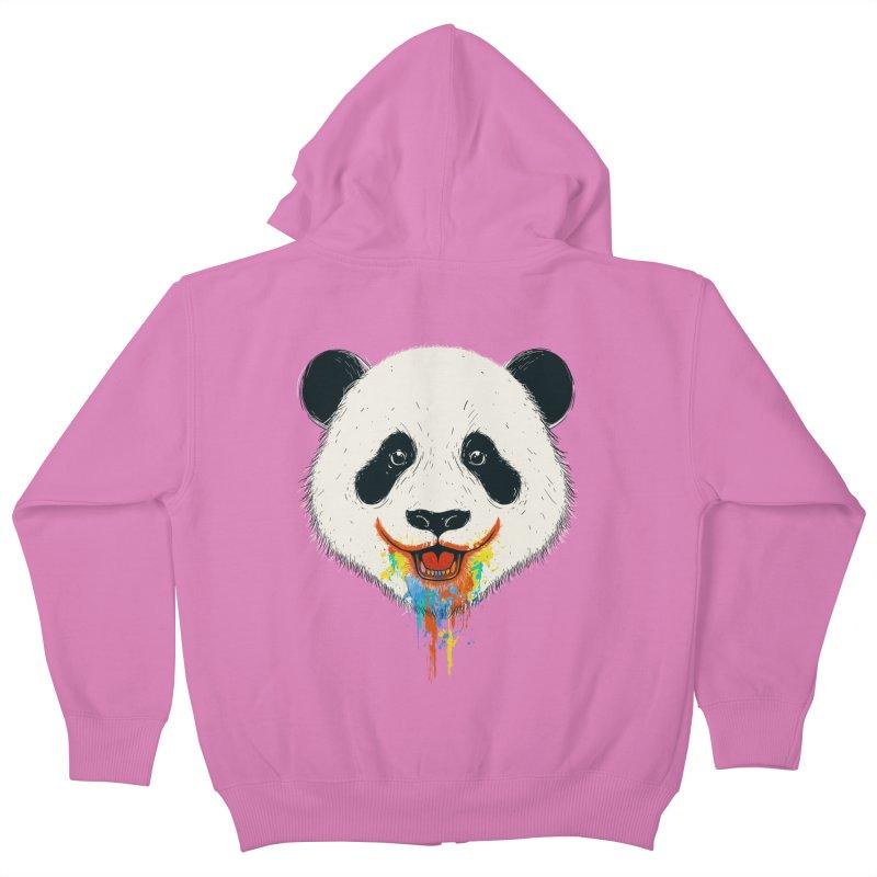 PANDA Kids Zip-Up Hoody by netralica's Artist Shop
