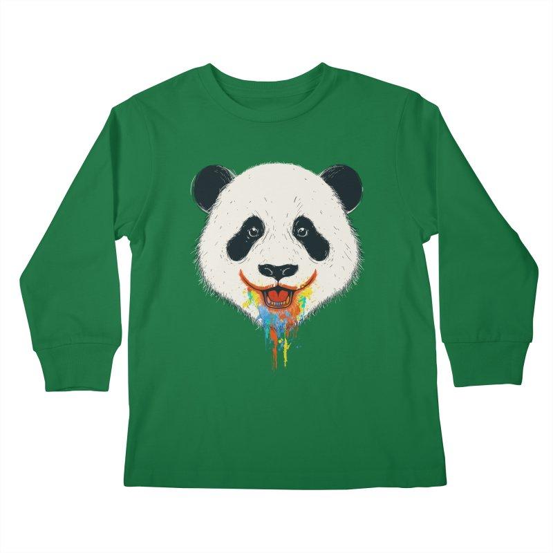 PANDA Kids Longsleeve T-Shirt by netralica's Artist Shop