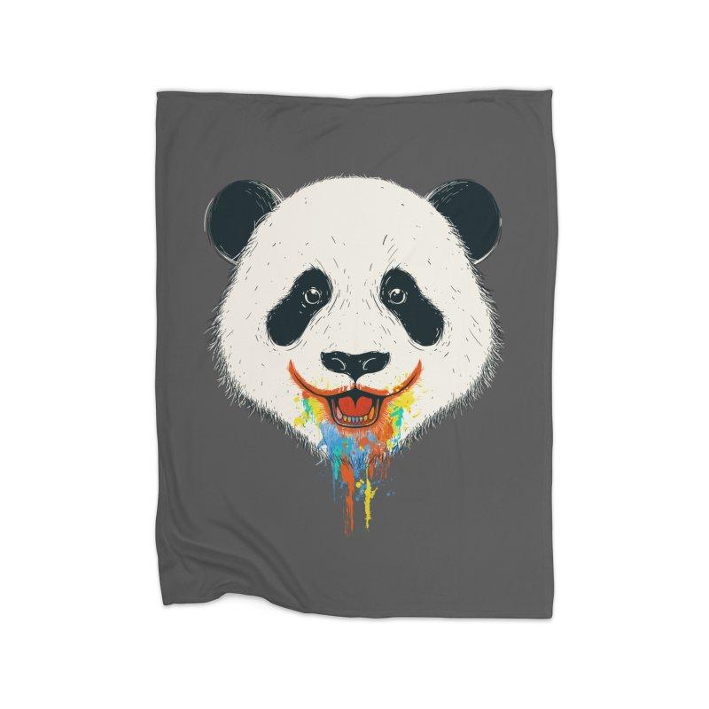 PANDA Home Fleece Blanket Blanket by netralica's Artist Shop