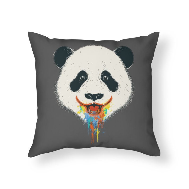 PANDA Home Throw Pillow by netralica's Artist Shop