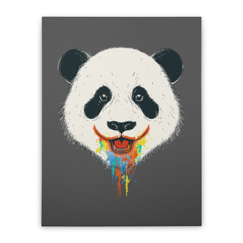 PANDA Home Stretched Canvas by netralica's Artist Shop
