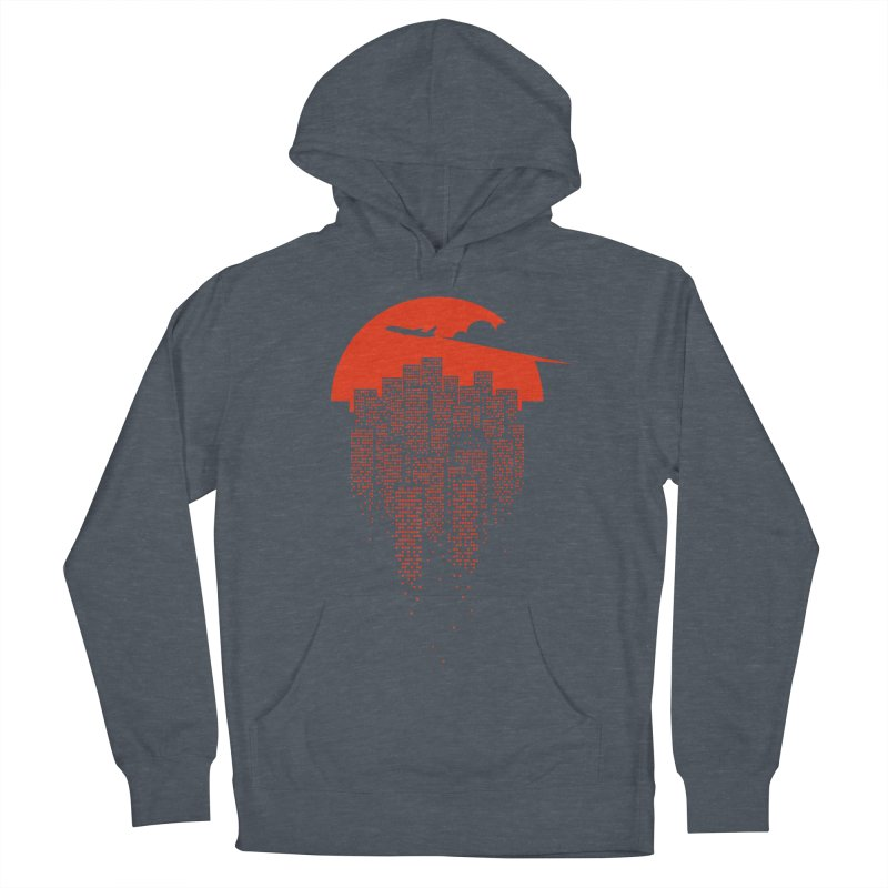 say goodbye to the city Women's French Terry Pullover Hoody by netralica's Artist Shop