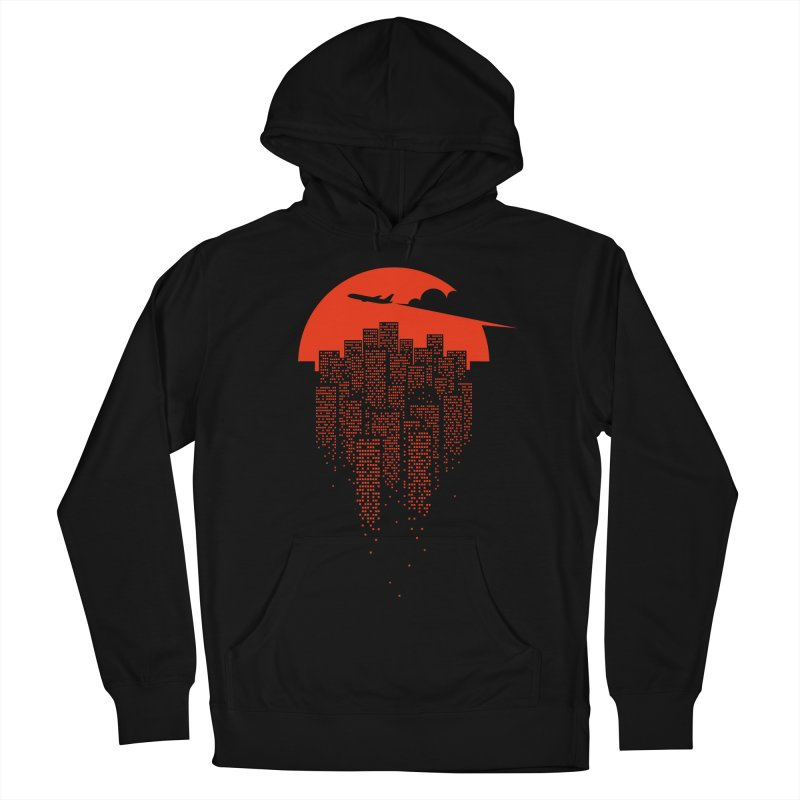 say goodbye to the city Men's French Terry Pullover Hoody by netralica's Artist Shop
