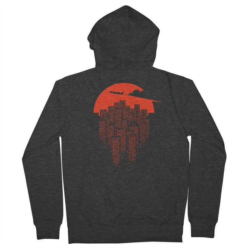 say goodbye to the city Men's Zip-Up Hoody by netralica's Artist Shop