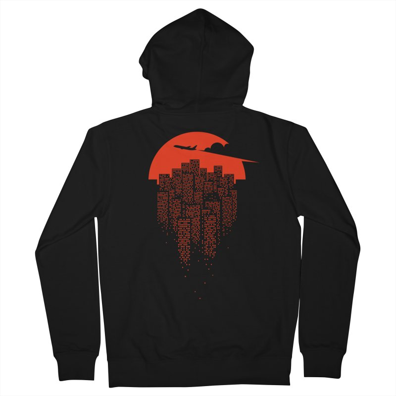 say goodbye to the city Men's French Terry Zip-Up Hoody by netralica's Artist Shop