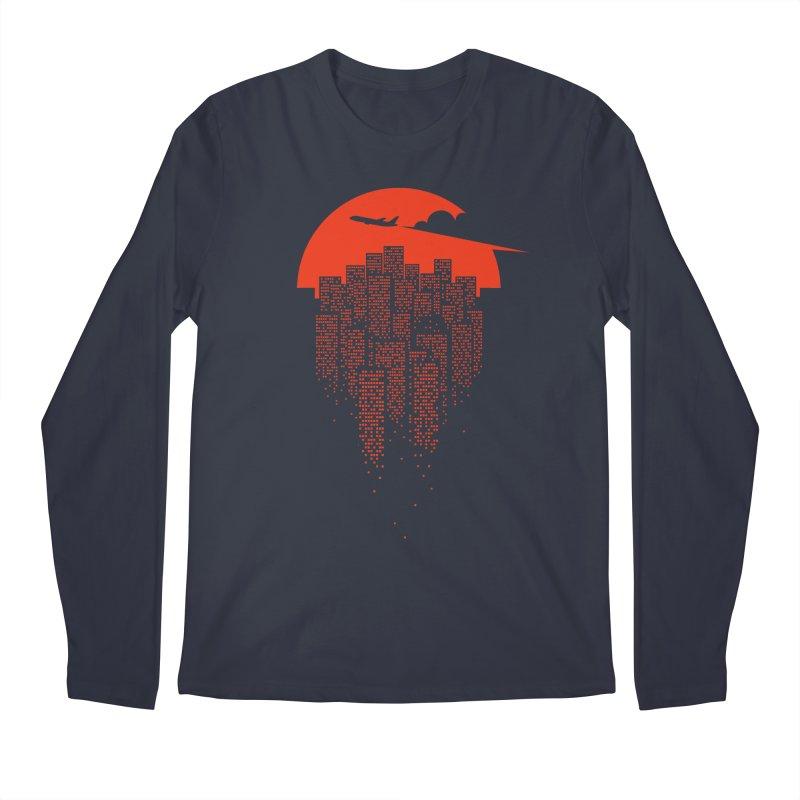 say goodbye to the city Men's Regular Longsleeve T-Shirt by netralica's Artist Shop