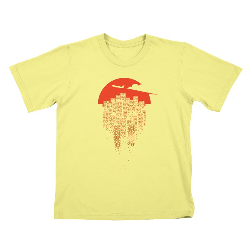 say goodbye to the city Kids T-shirt by netralica's Artist Shop
