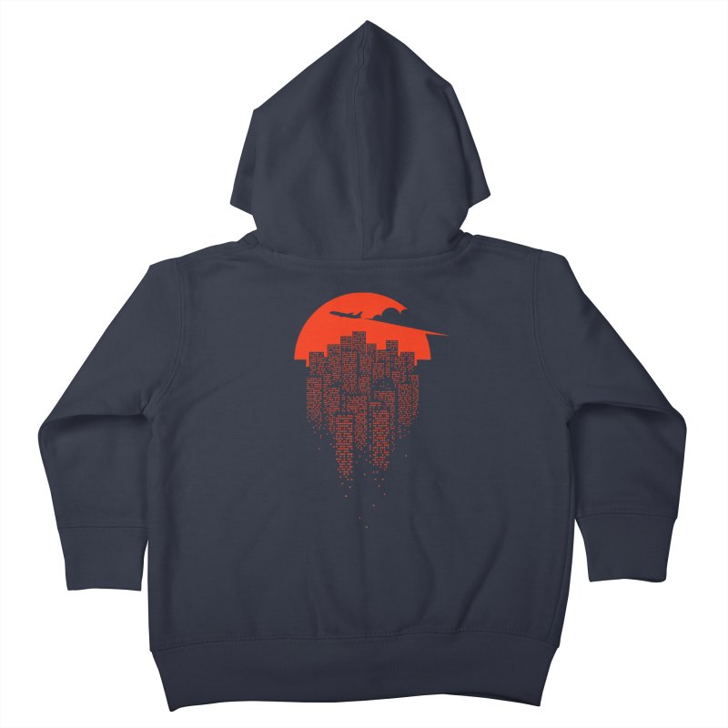 say goodbye to the city Kids Toddler Zip-Up Hoody by netralica's Artist Shop