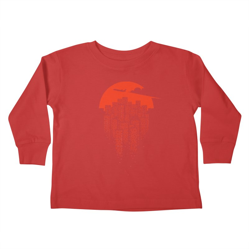 say goodbye to the city Kids Toddler Longsleeve T-Shirt by netralica's Artist Shop