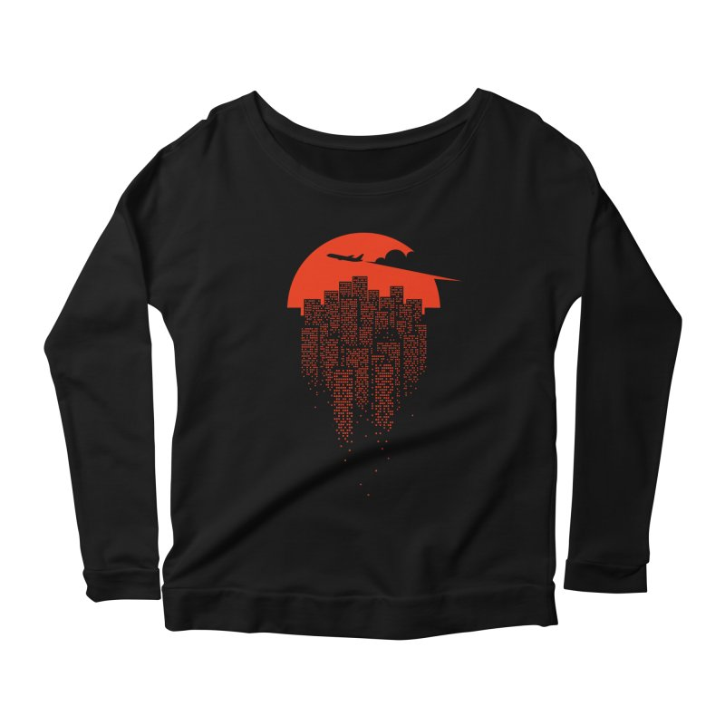 say goodbye to the city Women's Scoop Neck Longsleeve T-Shirt by netralica's Artist Shop