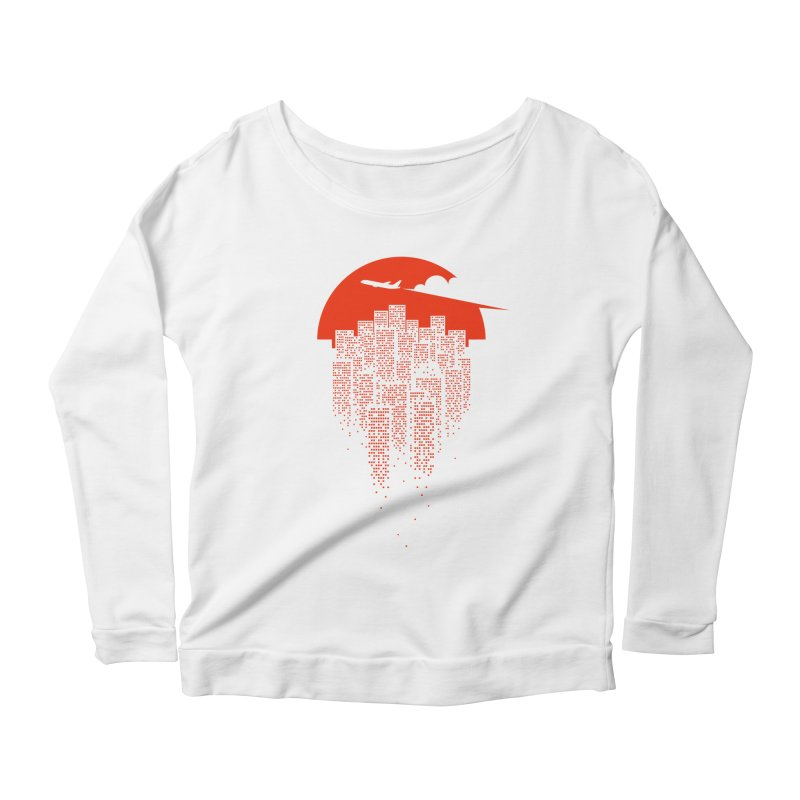 say goodbye to the city Women's Longsleeve Scoopneck  by netralica's Artist Shop