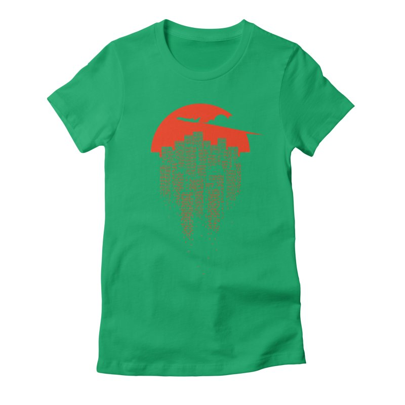 say goodbye to the city Women's Fitted T-Shirt by netralica's Artist Shop