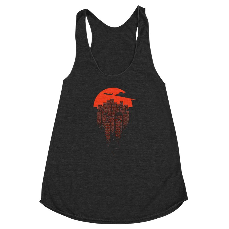 say goodbye to the city Women's Racerback Triblend Tank by netralica's Artist Shop