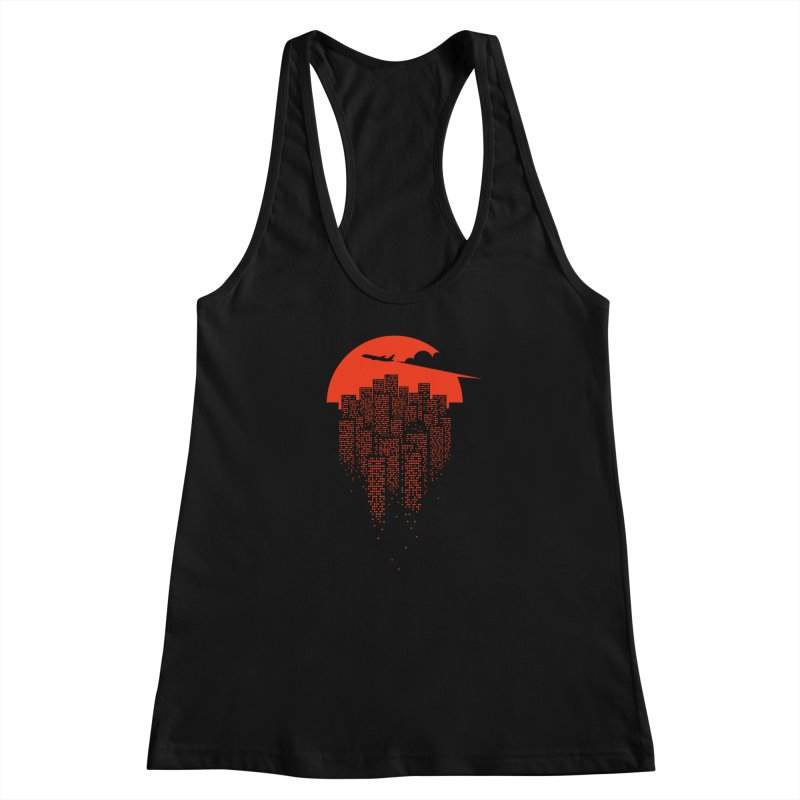 say goodbye to the city Women's Racerback Tank by netralica's Artist Shop