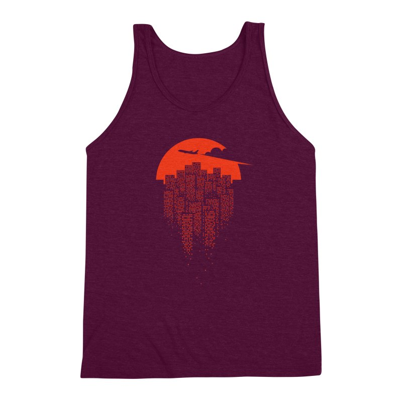say goodbye to the city Men's Triblend Tank by netralica's Artist Shop