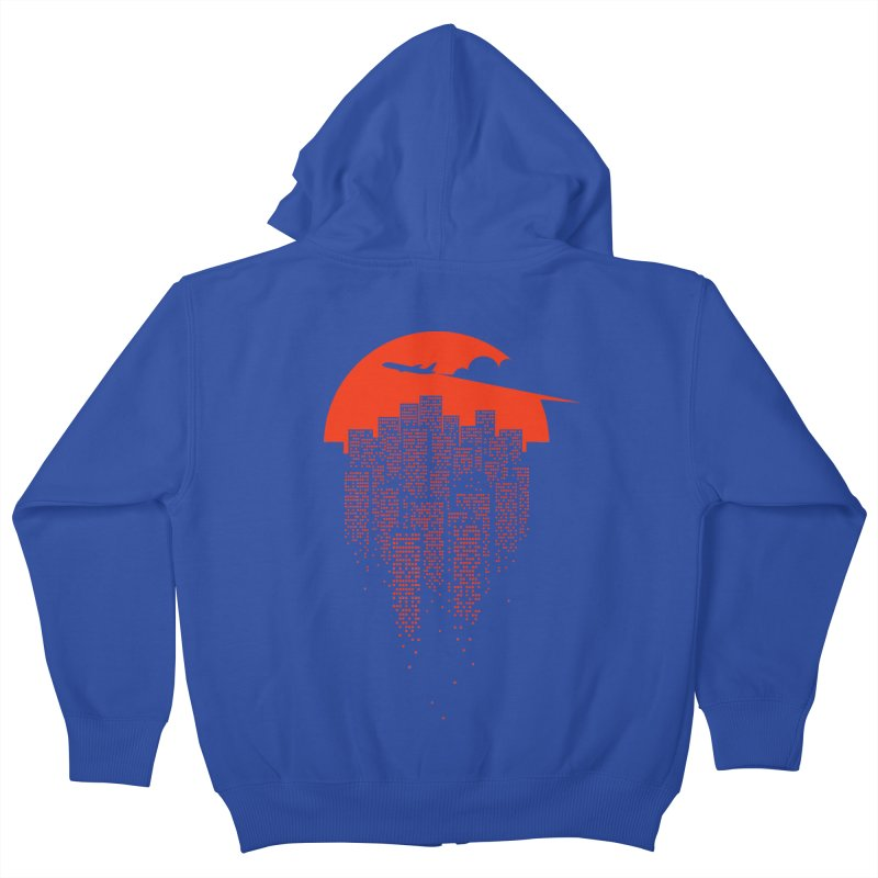 say goodbye to the city Kids Zip-Up Hoody by netralica's Artist Shop