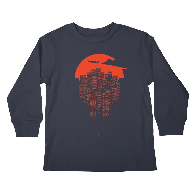 say goodbye to the city Kids Longsleeve T-Shirt by netralica's Artist Shop