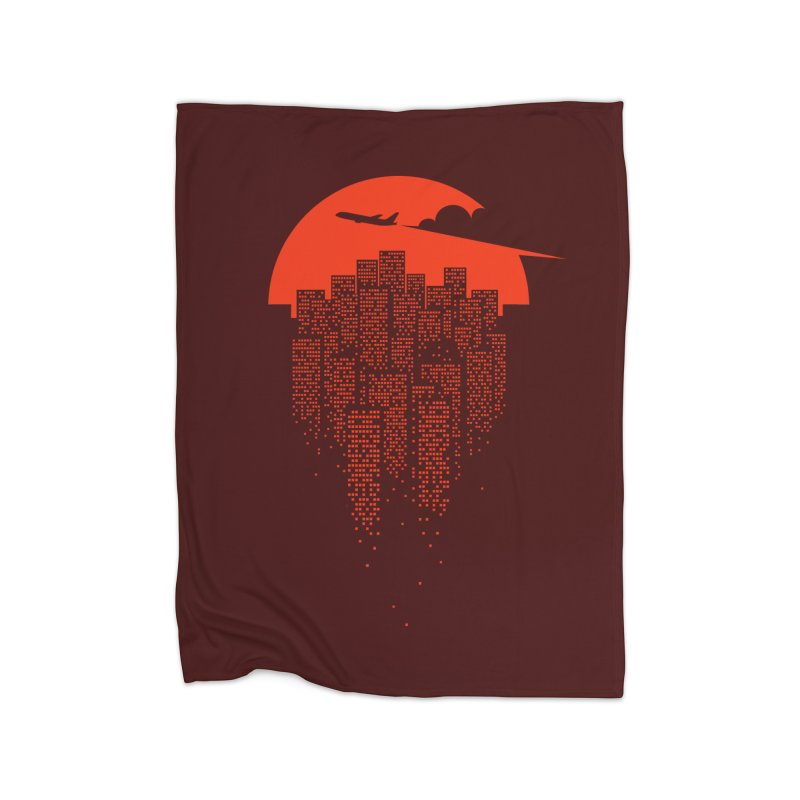 say goodbye to the city Home Fleece Blanket Blanket by netralica's Artist Shop
