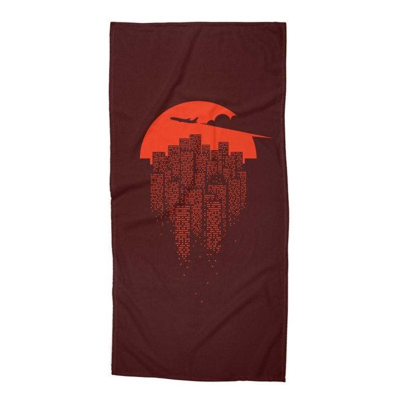 say goodbye to the city Accessories Beach Towel by netralica's Artist Shop