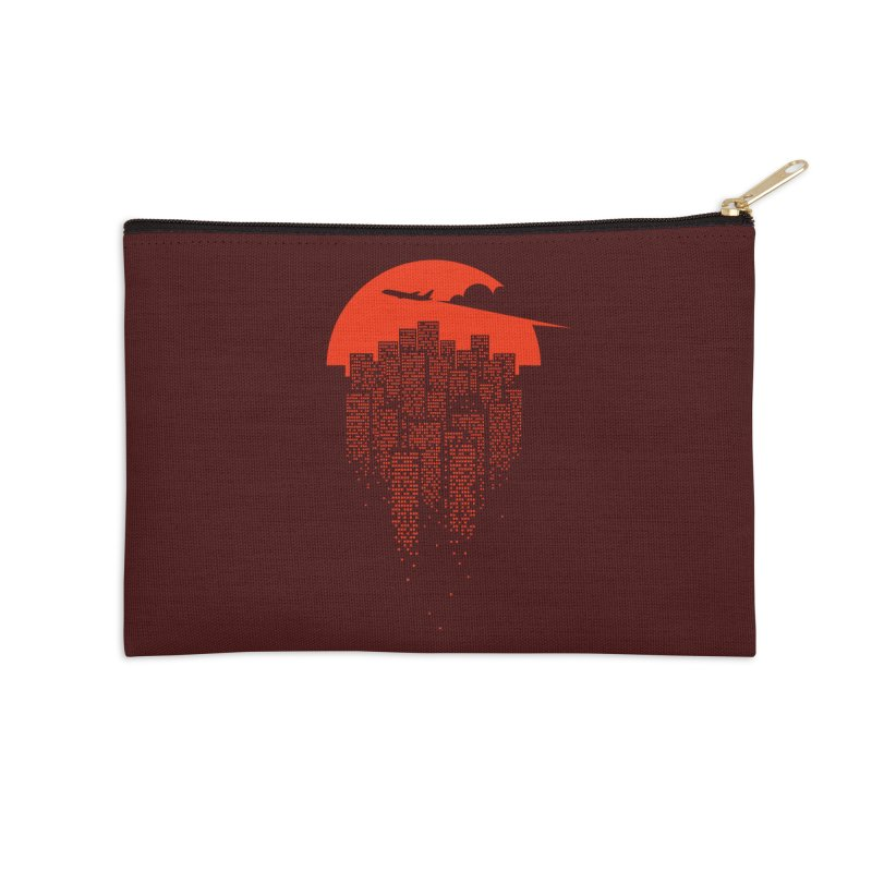 say goodbye to the city Accessories Zip Pouch by netralica's Artist Shop