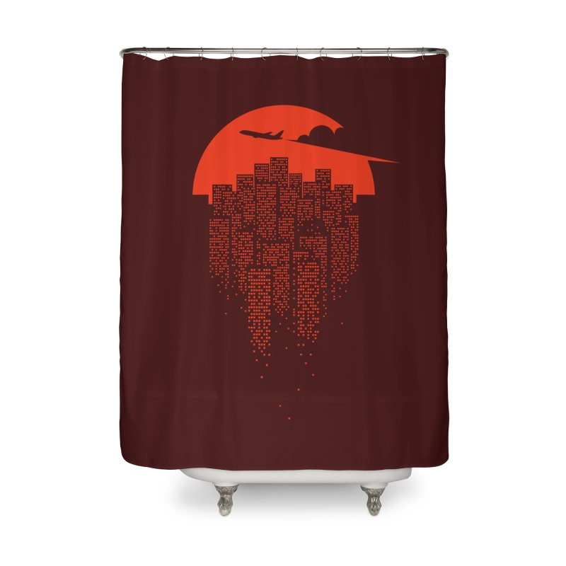 say goodbye to the city Home Shower Curtain by netralica's Artist Shop