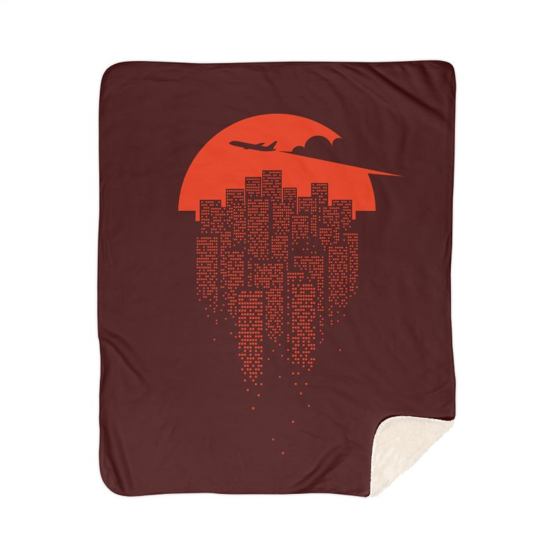 say goodbye to the city Home Sherpa Blanket Blanket by netralica's Artist Shop