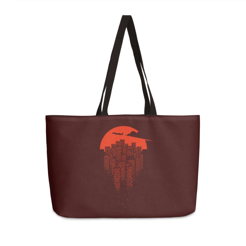 say goodbye to the city Accessories Weekender Bag Bag by netralica's Artist Shop