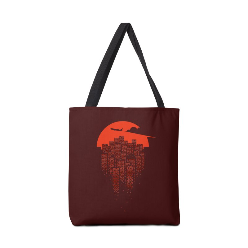 say goodbye to the city Accessories Tote Bag Bag by netralica's Artist Shop
