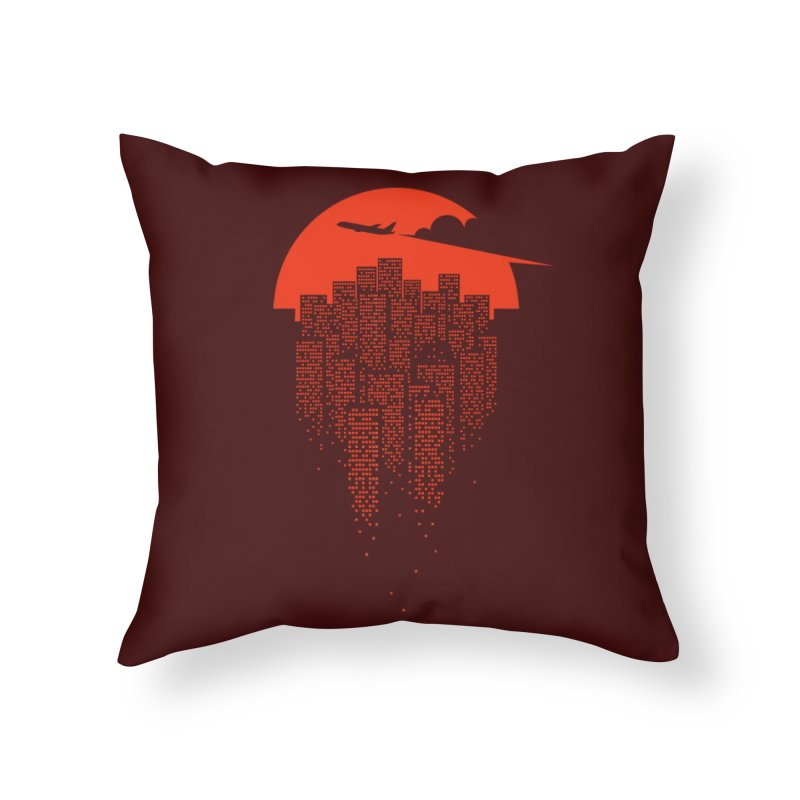 say goodbye to the city Home Throw Pillow by netralica's Artist Shop