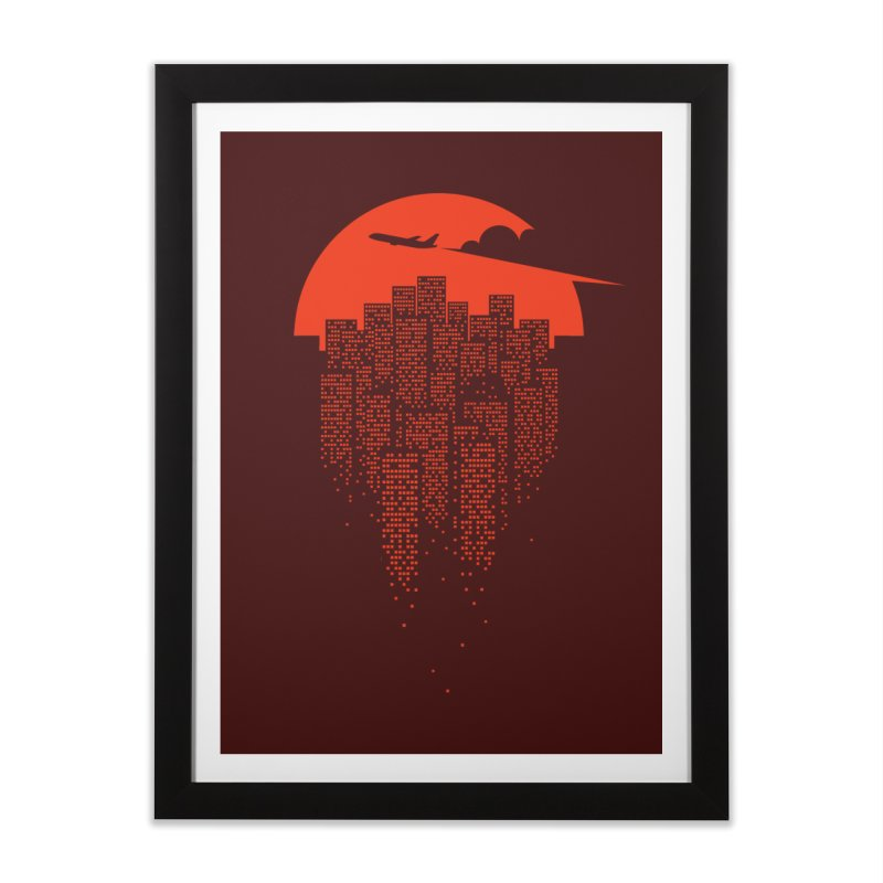 say goodbye to the city Home Framed Fine Art Print by netralica's Artist Shop